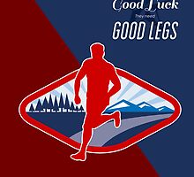 Cross Country Runner Retro Poster by patrimonio