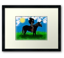 Lady Persiphone and the Unicorn  Framed Print
