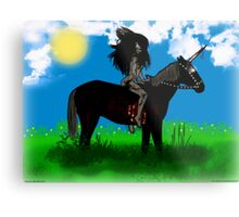 Lady Persiphone and the Unicorn  Metal Print