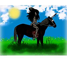 Lady Persiphone and the Unicorn  Photographic Print