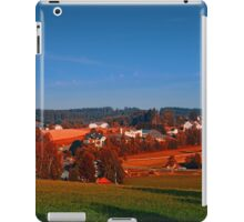Small rural town skyline at sunrise | landscape photography iPad Case/Skin