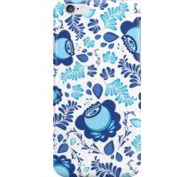 Blue flowers pattern iPhone Case/Skin