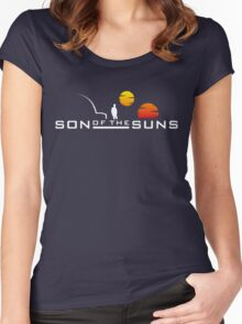 Son of the Suns (white) Women's Fitted Scoop T-Shirt