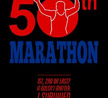 50th Marathon Race Poster  by patrimonio