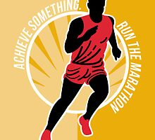 Marathon Achieve Something Poster Retro by patrimonio