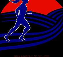 Marathon Runner Female Pushing Limits Poster by patrimonio