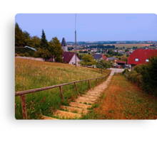 Stairway to the village center | landscape photography Canvas Print