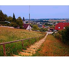Stairway to the village center | landscape photography Photographic Print