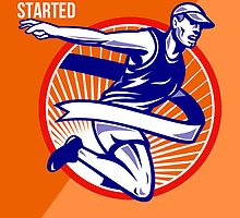 Marathon Finish What You Started Retro Poster by patrimonio