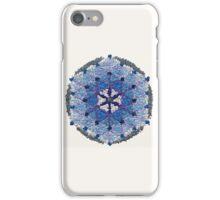 Beautiful Blue and Silver Mandala iPhone Case/Skin