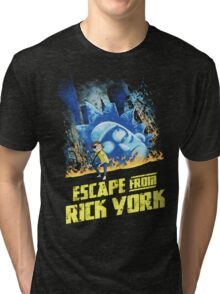 Rick and Morty Escape From Rick York Tri-blend T-Shirt