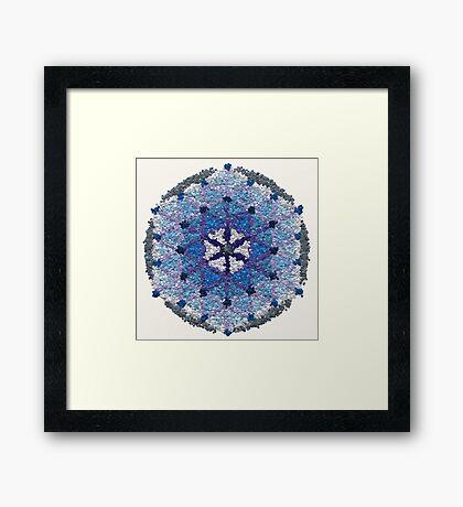 Beautiful Blue and Silver Mandala Framed Print