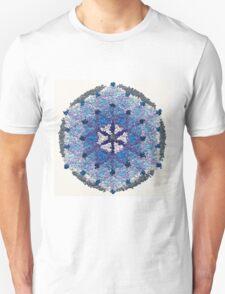 Beautiful Blue and Silver Mandala T-Shirt