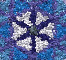 Beautiful Blue and Silver Mandala Sticker