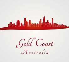 Gold Coast skyline in red by paulrommer