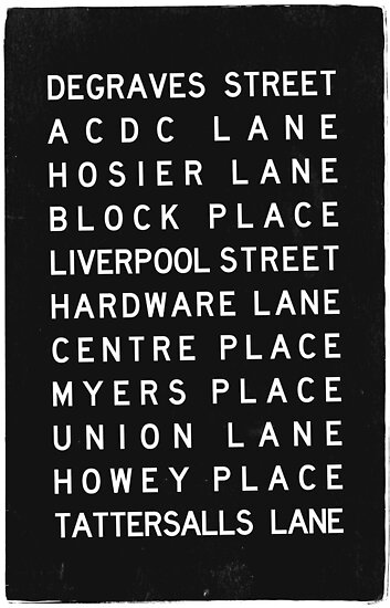 Melbourne Lanes Tram Scroll Weathered Print by melbournedesign