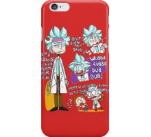 Doctor Rick Quote Collage iPhone Case/Skin