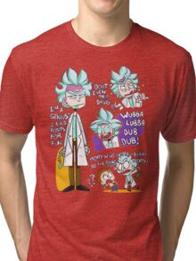 Doctor Rick Quote Collage Tri-blend T-Shirt