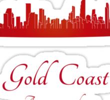 Gold Coast skyline in red Sticker