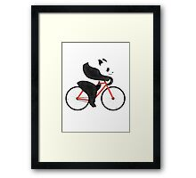 Panda Bike Fixie Framed Print