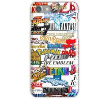 Retro Nintendo Titles  iPhone Case/Skin