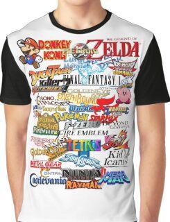 Retro Nintendo Titles  Graphic T-Shirt