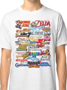 Retro Nintendo Titles  Classic T-Shirt