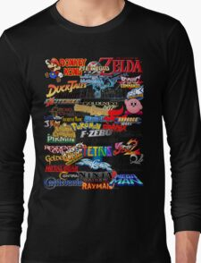 Retro Nintendo Titles  Long Sleeve T-Shirt