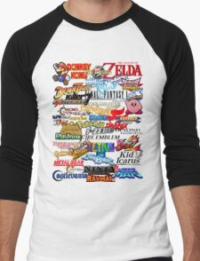 Retro Nintendo Titles  Men's Baseball ¾ T-Shirt