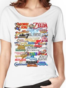 Retro Nintendo Titles  Women's Relaxed Fit T-Shirt