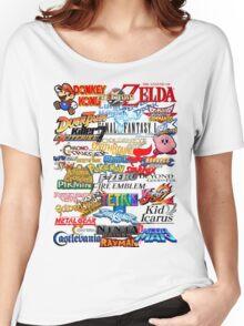 Retro Nintendo Titles  Women's Relaxed Fit T-Shirt