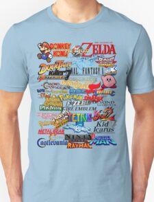 Retro Nintendo Titles  T-Shirt