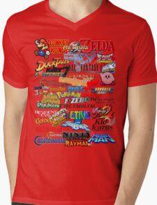 Retro Nintendo Titles  Mens V-Neck T-Shirt
