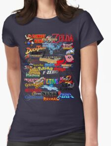 Retro Nintendo Titles  Womens Fitted T-Shirt