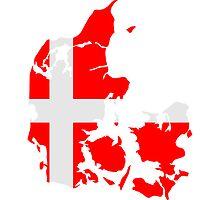 Denmark Danmark Flag by Style-O-Mat