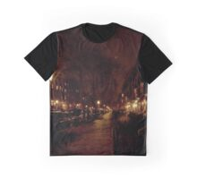 Marlborough Street lit by Gaslight and planets Graphic T-Shirt
