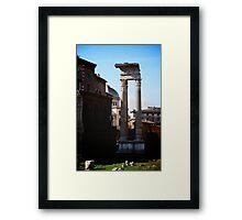 Romanian ruins Framed Print