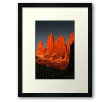 Three Torres, Torres del Paine Framed Print