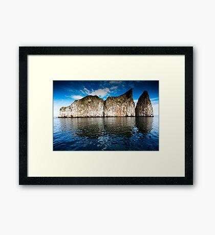 Galapagos Rock Island Framed Print
