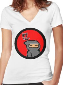 ninja Women's Fitted V-Neck T-Shirt