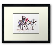 Swearing like a Trooper 2 Framed Print