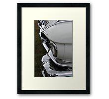 chrome meet white Framed Print