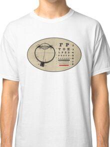 Vintage Ophthalmologist Eye Chart Classic T-Shirt