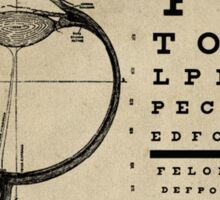 Vintage Ophthalmologist Eye Chart Sticker