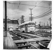 Vintage Streetcar Trolley 1923 Poster