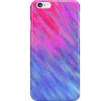 Glittery Sunburst - Pink and Blue iPhone Case/Skin