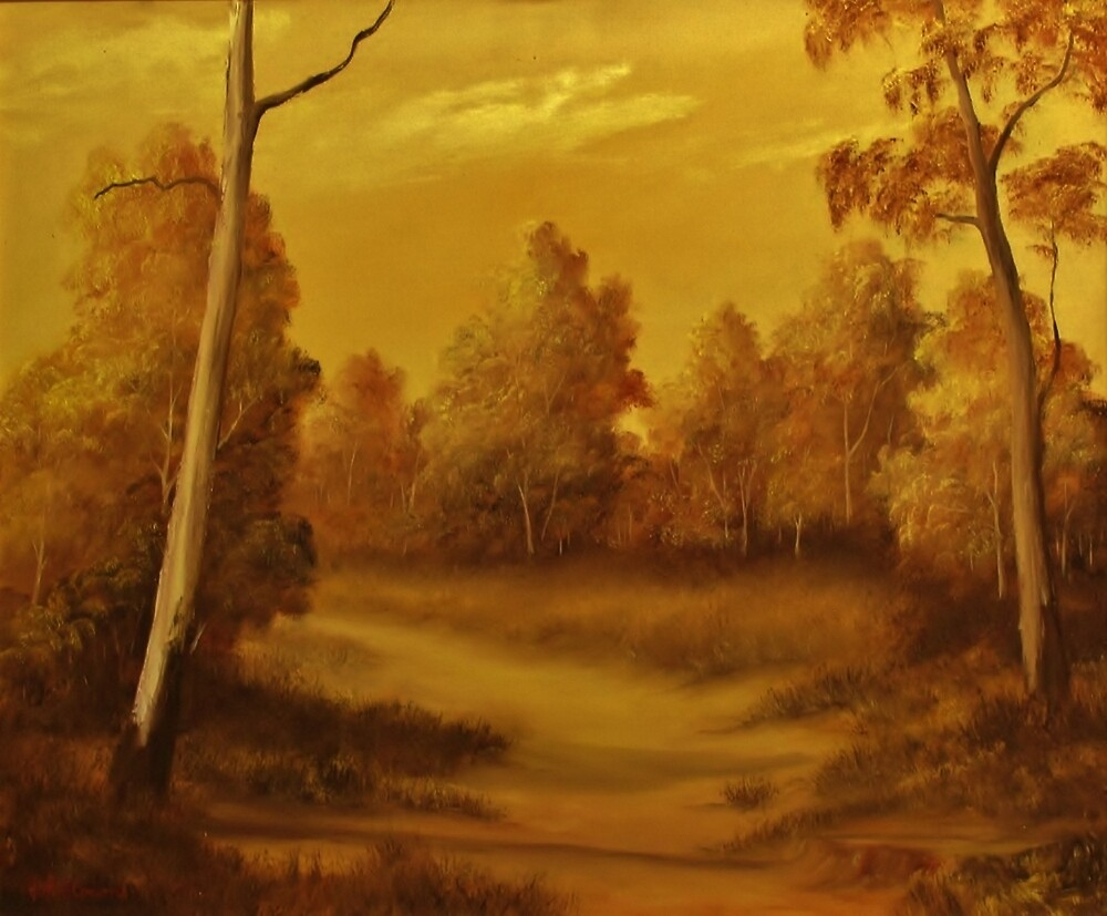 Country Road Sunset by John Cocoris