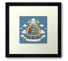 Buddha Bot v6 Framed Print