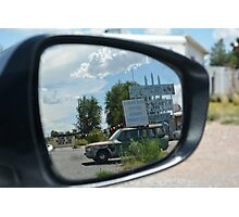 Eras in the mirror are closer than they appear Photographic Print