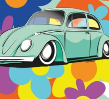 VW Beetle Flower Bug Sticker